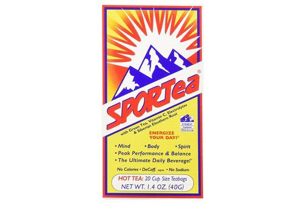 SPORTea(R) Hot: 20 Individual Tea Bags/Box Single Box