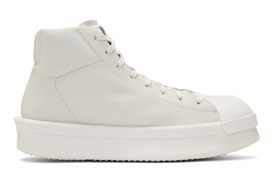 White adidas Originals Edition Mastodon Sneakers by Rick Owens