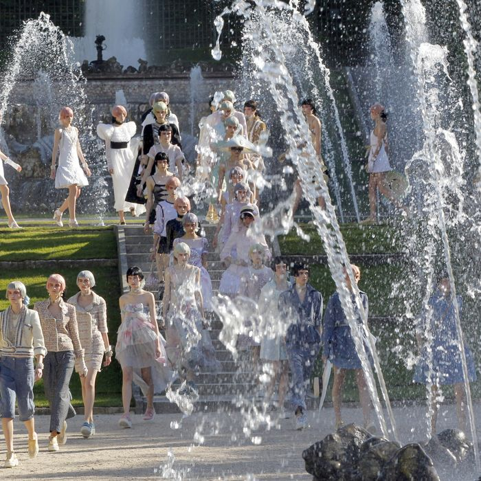 The finale of Chanel's Cruise 2013 show.