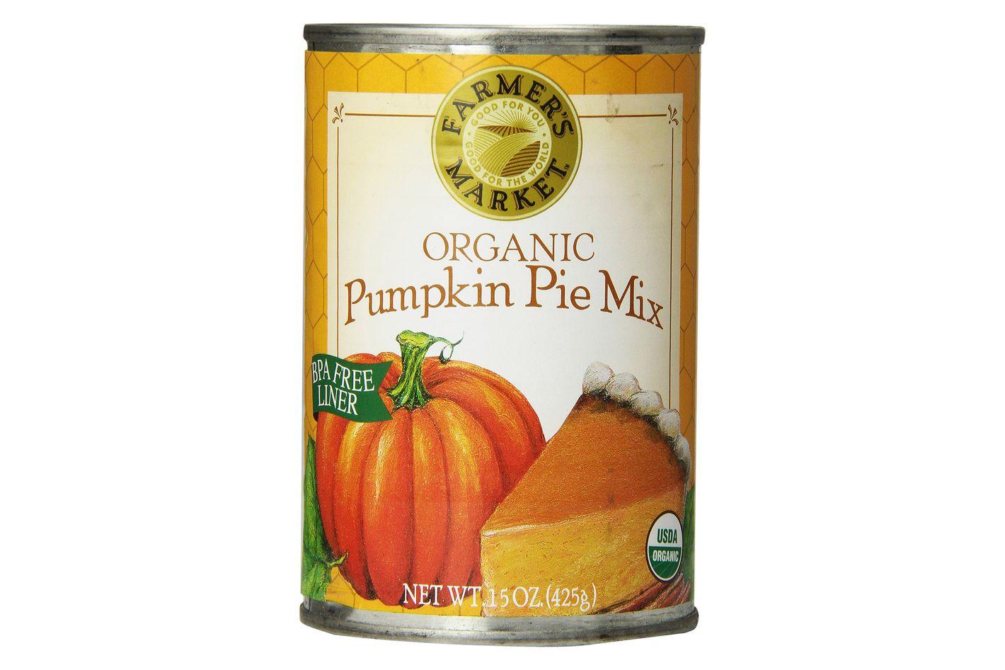 Farmer's Market Foods, Organic Canned Pumpkin Pie Mix