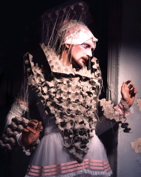 "Greg Day, ""Stephen Varble in the Elizabethan Farthingale,"" 1975, digital print, 21x14 in."
