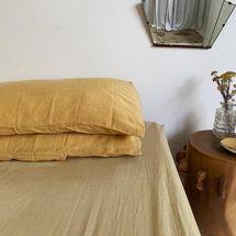 Dazed but Amazed Pillowslip Set DBA Ready Dyed Linen - Mustard