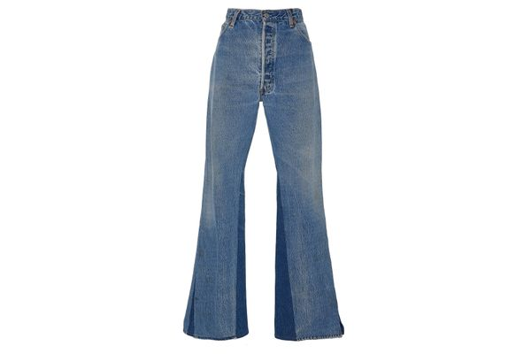 Re/Done Slit Contrast Inseam Flare Jean
