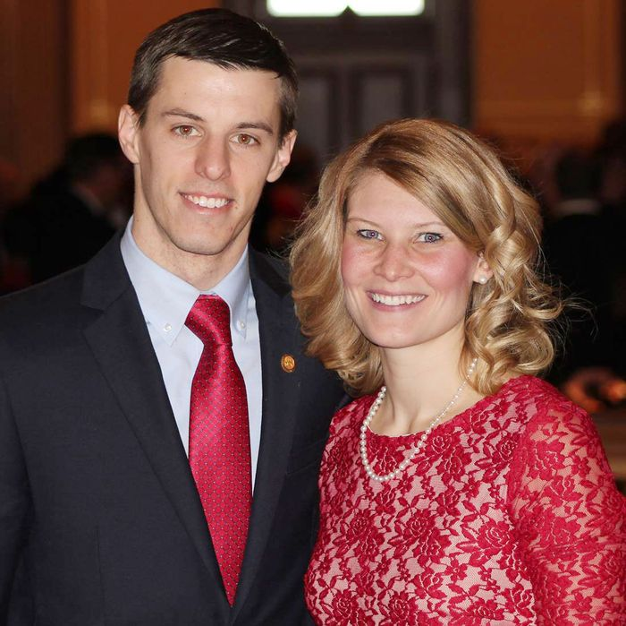 Michigan GOP State Rep. Lee Chatfield with wife Stephanie Chatfield.