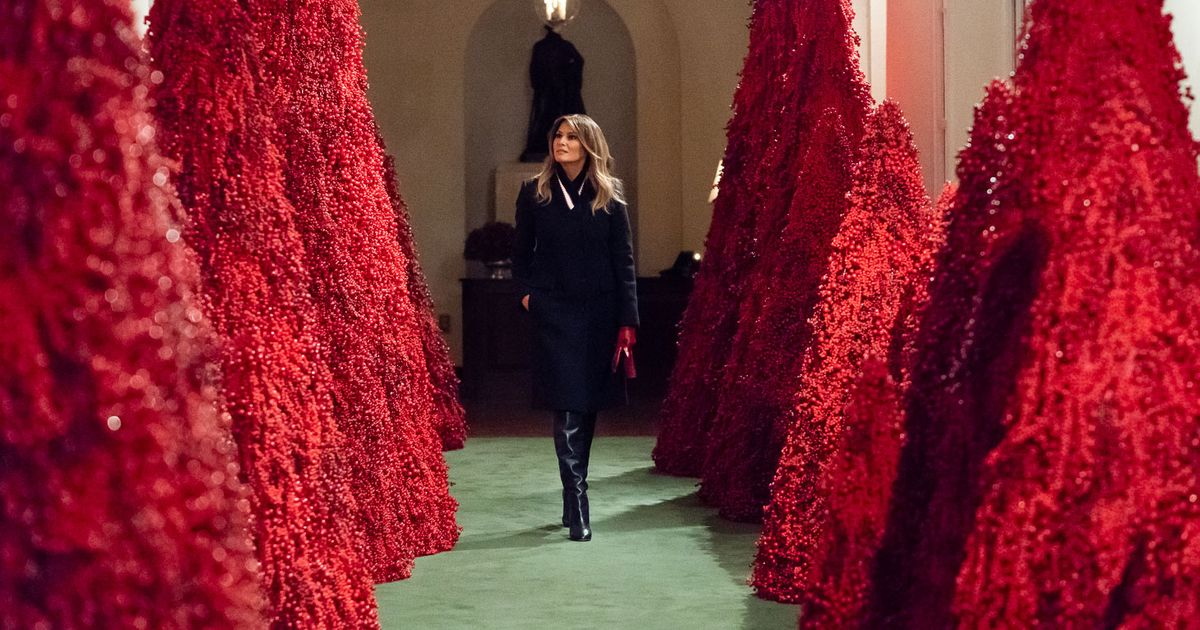 Melania S Red Christmas Trees Are Being Stripped Of Berries