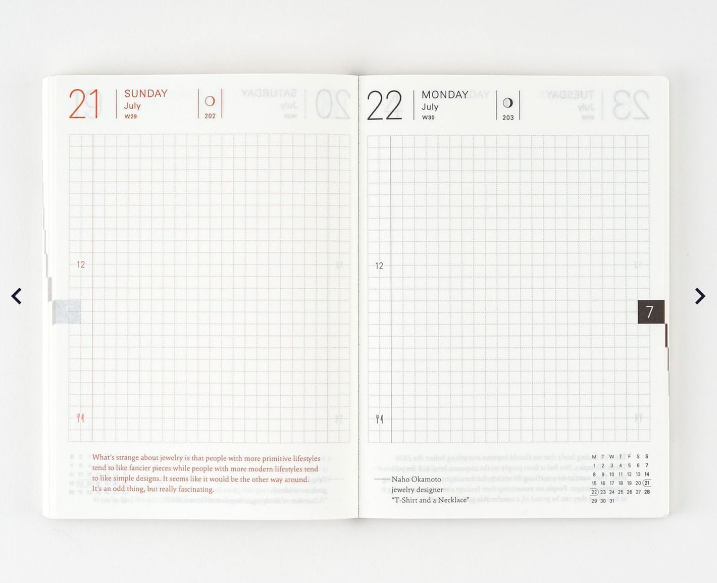 Hobonichi Techo Planner Book A6 Size