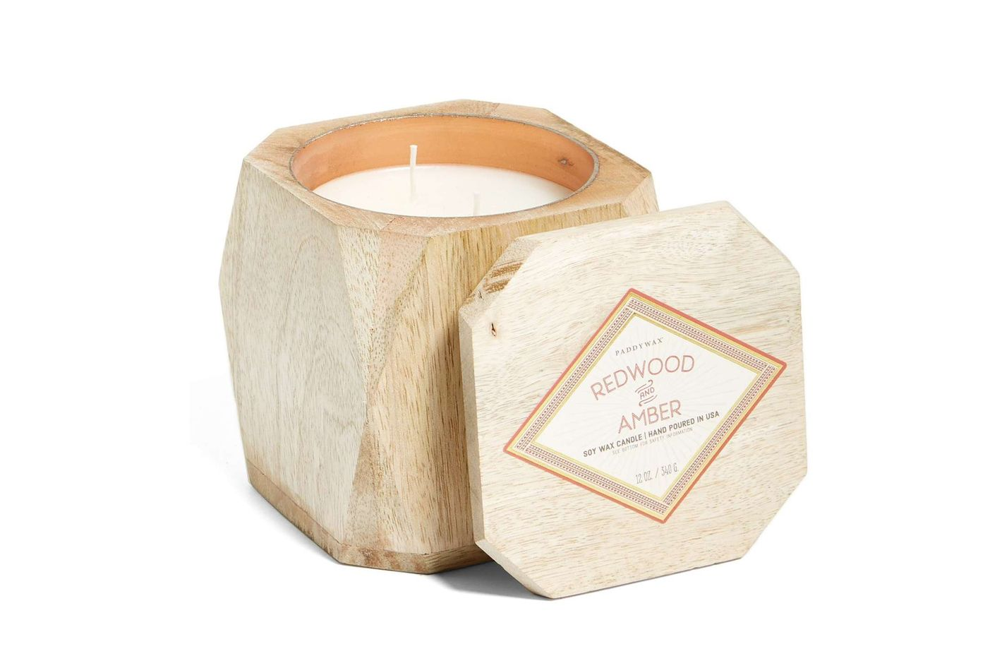 Paddywax Redwood & Amber Soy Wax Candle