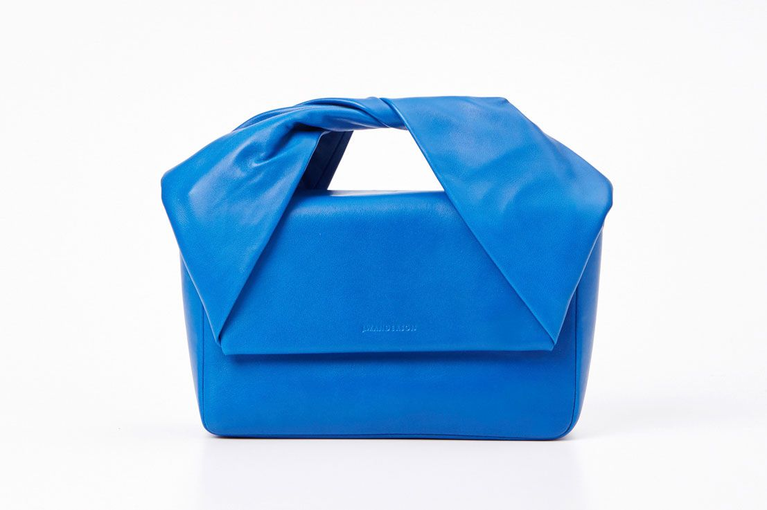 J.W. Anderson Blue Twist Bag with Chain