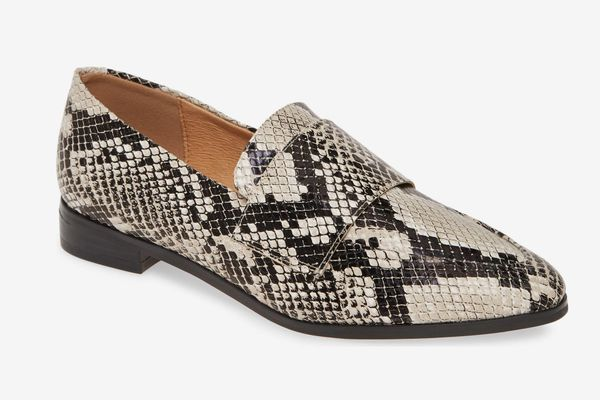 Halogen Emilia Loafer in Snakeskin