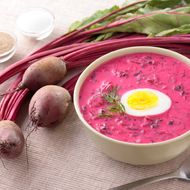 You can get borscht, of course.