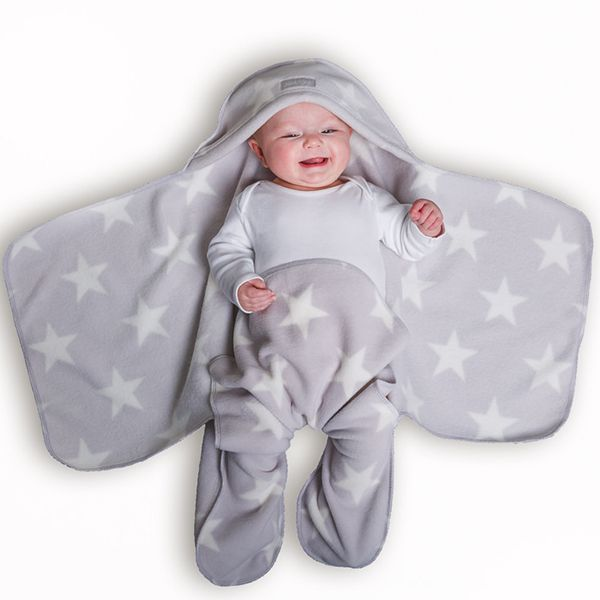 Grey Star Nod Pod Baby Blanket with Legs