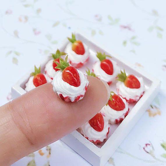 Miniature Strawberry Cupcake