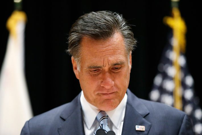 Republican presidential candidate and former Massachusetts Gov. Mitt Romney speaks to reporters about the secretly taped video from one of his campaign fundraising events in Costa Mesa, Calif., Monday, Sept. 17, 2012. (AP Photo/Charles Dharapak)