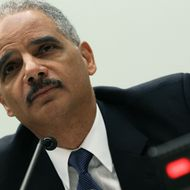 WASHINGTON, DC - JUNE 07: Attorney General Eric Holder testifies during a House Judiciary Committee hearing on Capitol Hill, June 7, 2012 in Washington, DC. Oversight members will be hearing testimony on the initiatives of the U.S. Department of Justice. (Photo by Mark Wilson/Getty Images)