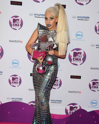 Lady Gaga in Paco Rabanne.
