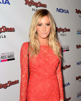 Actress Ashley Tisdale arrives at Rolling Stone Magazine Official 2012 American Music Awards VIP After Party presented by Nokia and Rdio at Rolling Stone Restaurant And Lounge on November 18, 2012 in Los Angeles, California.