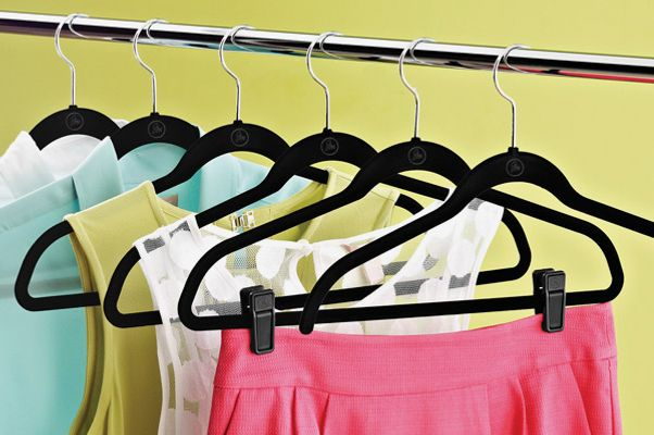 Joy Mangano Black Huggable Hangers