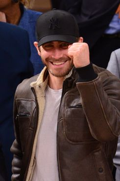 Jake Gyllenhaal attends the Boston Celtics vs New York Knicks Playoff Game at Madison Square Garden on April 23, 2013 in New York City.