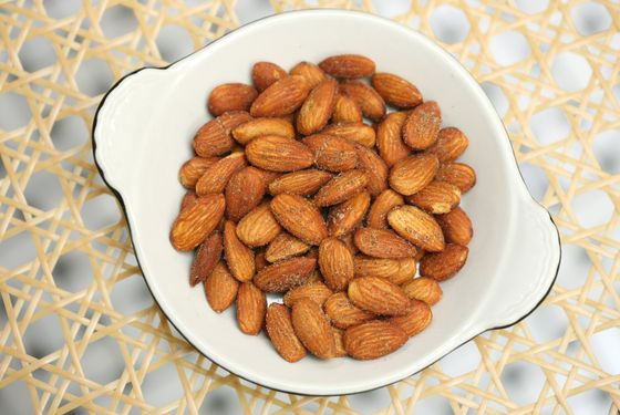Spicy smoked almonds.