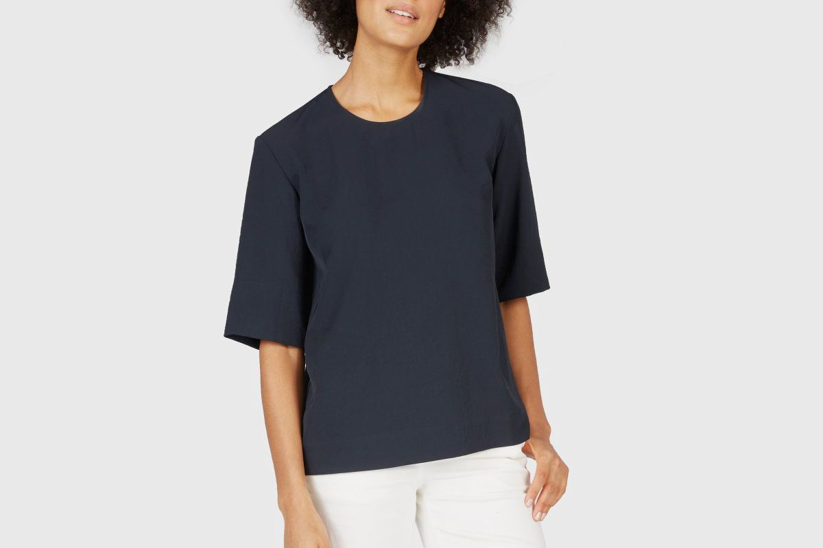 Everlane Japanese GoWeave Back-Zip Tee