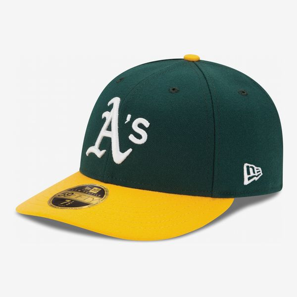MLB Men's Oakland Athletics New Era Green/Yellow Home Authentic Collection Fitted Hat
