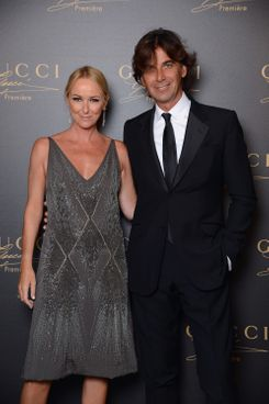 Creative Director of Gucci Frida Giannini and  President and Chief Executive Officer Gucci Patrizio di Marco attend the Gucci Premiere Fragrance Launch at Hotel Cipriani on September 1, 2012 in Venice, Italy.