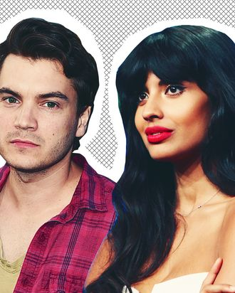 Emile Hirsch and Jameela Jamil.