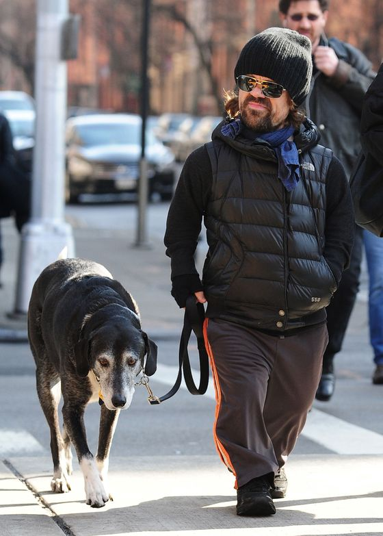 Peter Dinklage and Erica Schmidt are seen in Chelsea on January 29, 2013 in New York City.