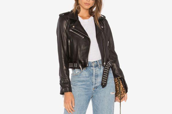 Blank NYC Black Smoke Leather Jacket