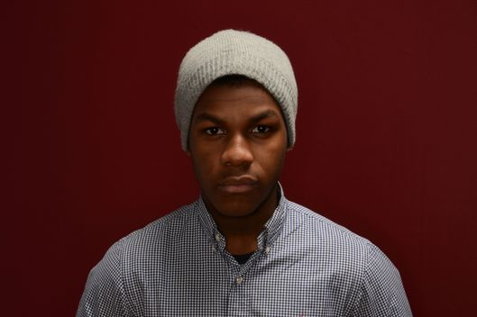 PARK CITY, UT - JANUARY 20:  Actor John Boyega poses for a portrait during the 2014 Sundance Film Festival at the WireImage Portrait Studio at the Village At The Lift Presented By McDonald's McCafe on January 20, 2014 in Park City, Utah.  (Photo by Larry Busacca/Getty Images)