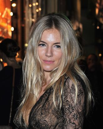 PARIS, FRANCE - NOVEMBER 24: Sienna Miller attends the Lancel celebration of '135 Years Of French Legerete' Hosted By Sienna Miller on November 24, 2011 in Paris, France. (Photo by Pascal Le Segretain/Getty Images)