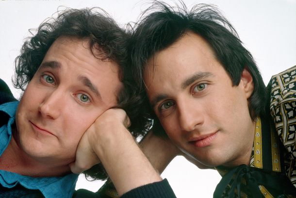 PERFECT STRANGERS - gallery - Season Two - 9/17/86Mark Linn-Baker (Larry), Bronson Pinchot (Balki)(AMERICAN BROADCASTING COMPANIES, INC.)