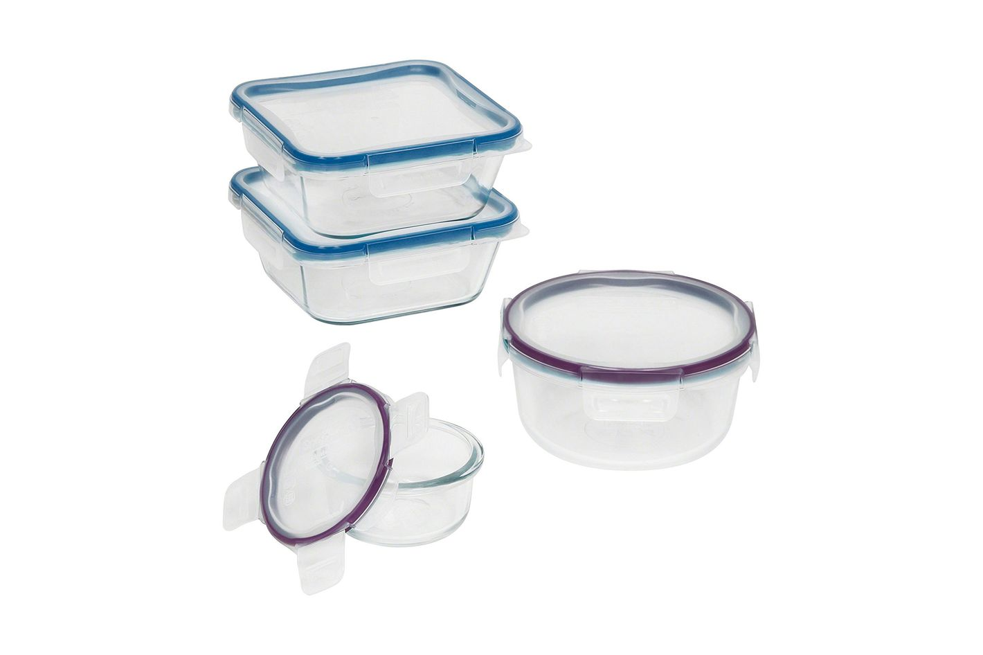 Snapware 8-Piece Total Solution Food Storage Set, Glass