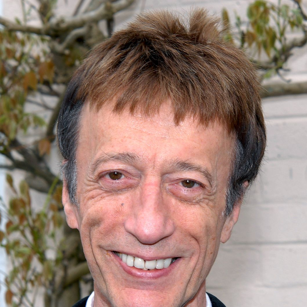 Robin Gibb attends a plaque unveiling for Sir john Mills at Pinewood Studios on May 9, 2010 in London, England.