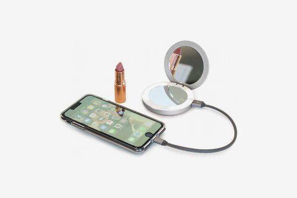 Fifth & Ninth Beauty Bank Illuminating Compact Mirror Portable Charger