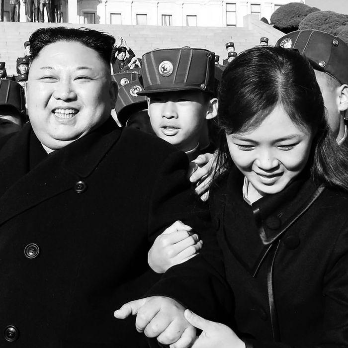 Kim Jong-un and Ri Sol Ju.