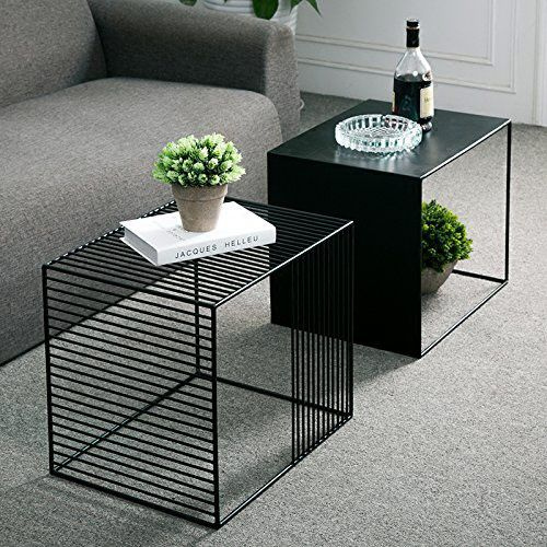 WGX Square Wrought Iron Coffee Table