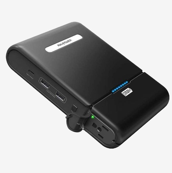 RavPower AC Outlet Built in 3-Prong Power Bank Laptop Travel Charger