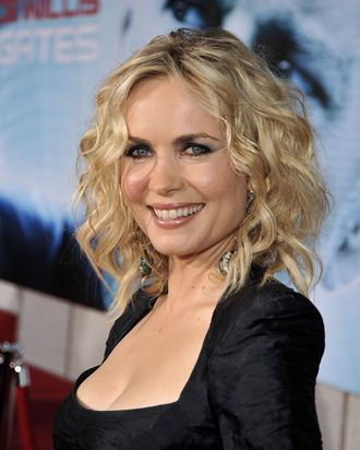 LOS ANGELES, CA - SEPTEMBER 24: Actress Radha Mitchell arrives at the premiere of Touchstone Pictures'