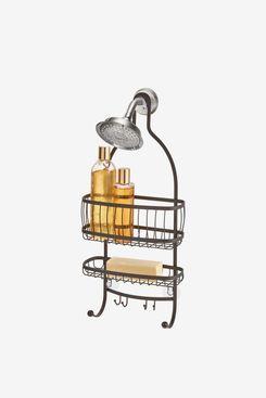 iDesign York Lyra Hanging Shower Organizer, Bronze
