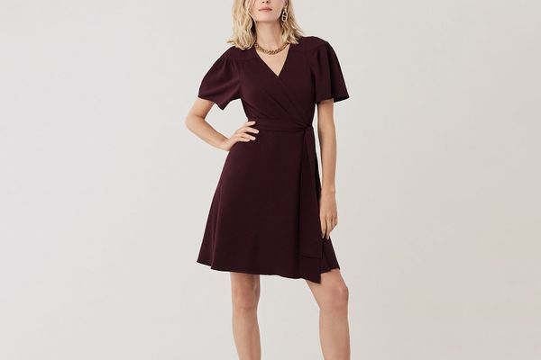 Diane von Furstenberg Zella Crepe Mini Wrap Dress