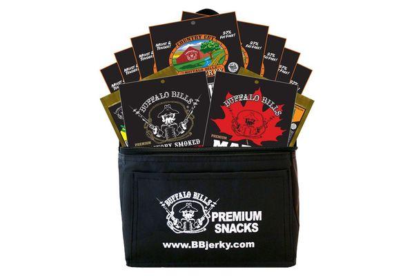 Buffalo Bills 12-Piece Jerky Set Gift Cooler