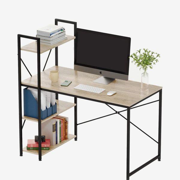 Bestier Computer Desk with Shelves