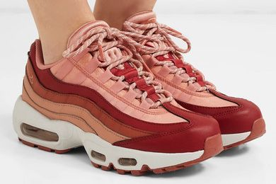 Nike Air Max 95 Suede and Leather Sneakers