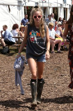GLASTONBURY, ENGLAND - JUNE 29:  Cressida Bonas attends the Glastonbury Festival at Worthy Farm on June 29, 2014 in Glastonbury, England.  (Photo by Danny Martindale/GC Images)