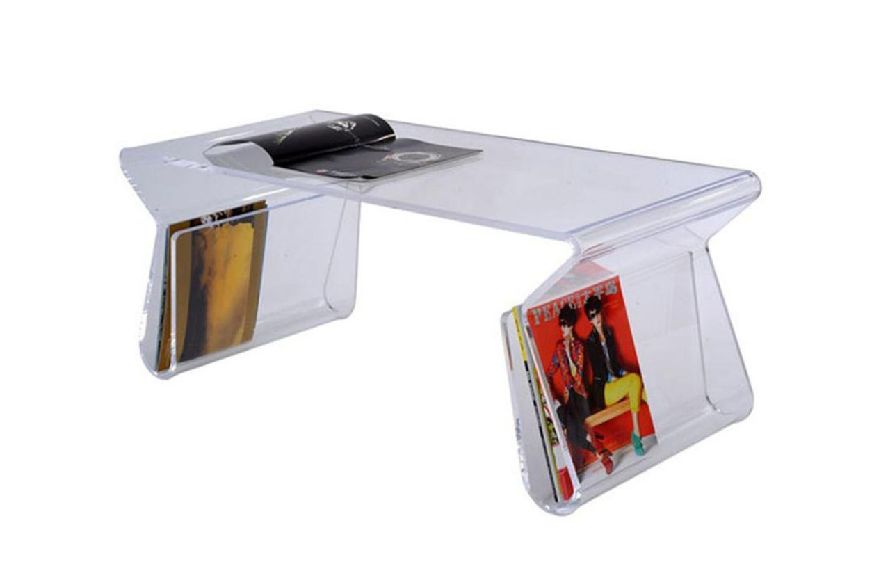 Our Love Of Clear Plastic Accents Is Well Known U2014 We Still Love The Storage  Legs On This Acrylic Table. Part 95