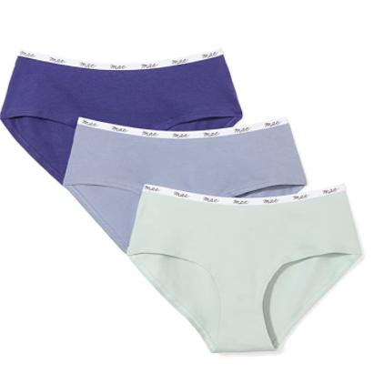 Mae Women's Logo Elastic Cotton Hipster Underwear