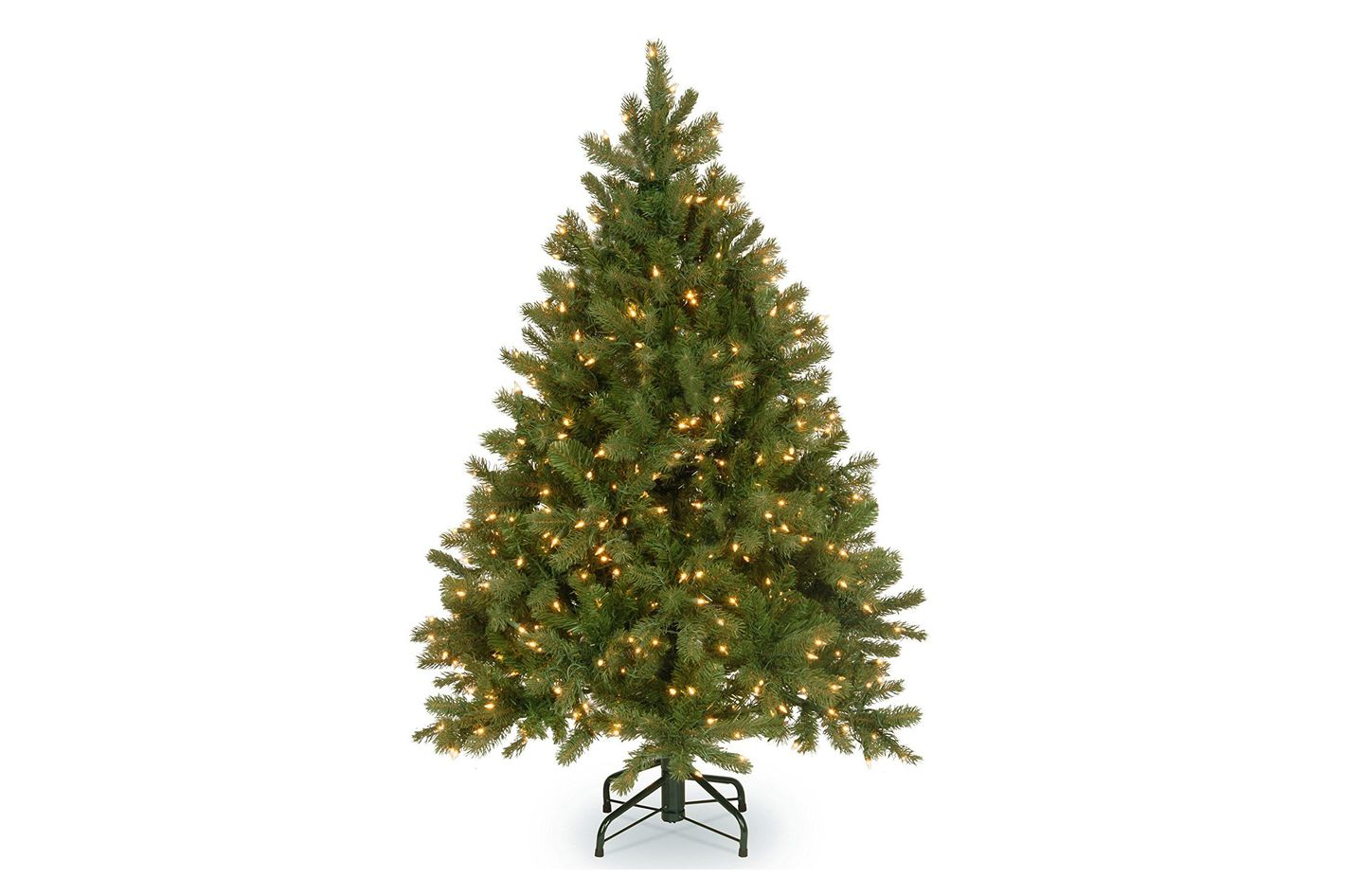 "National Tree 4.5 Foot ""Feel Real"" Downswept Douglas Fir Tree With 450 Clear Lights"