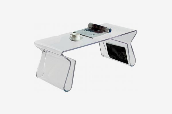 Modway Clear Magazine Acrylic Table