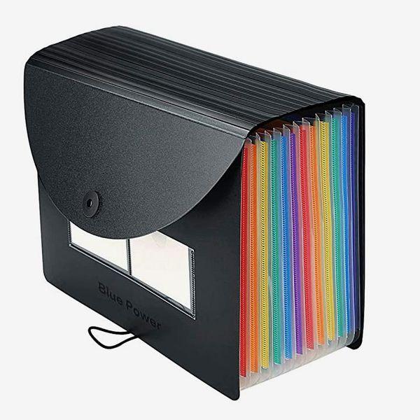 Expanding 12 Pocket Accordion File Organizer